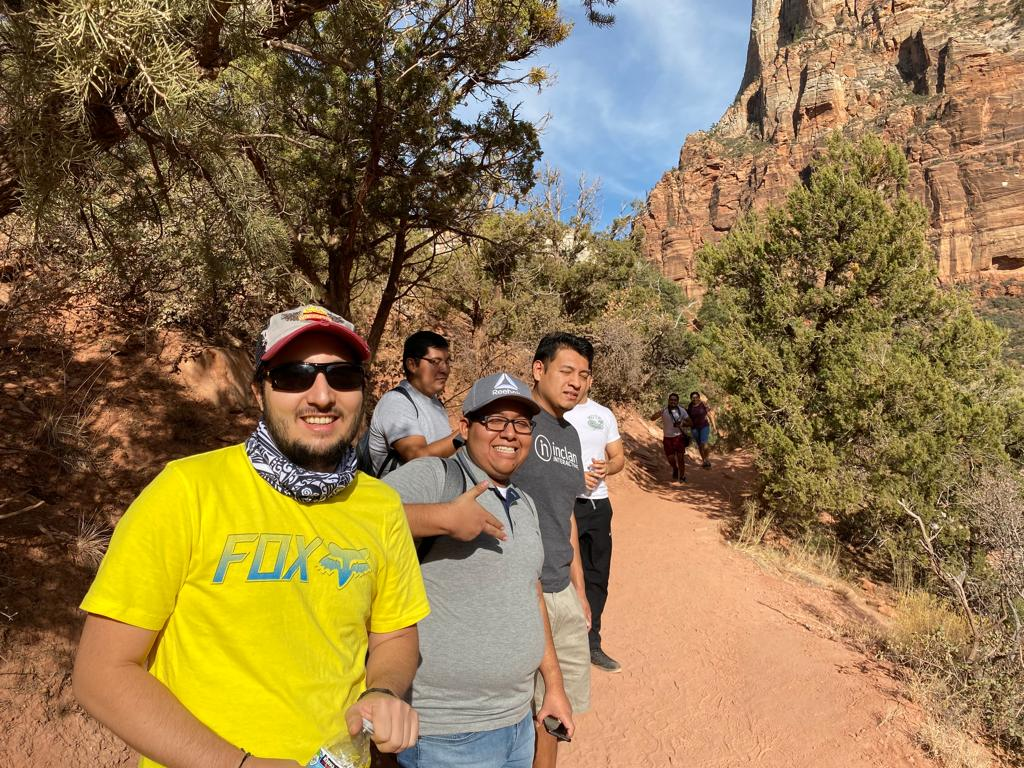 At Zion's Natl' Park